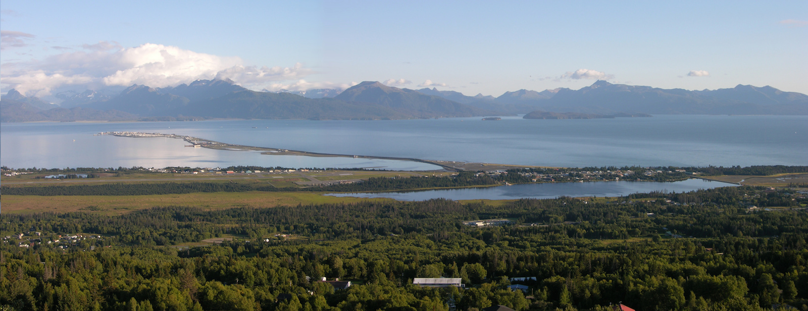 Panorama of the Homer Spit in Homer, Alaska
