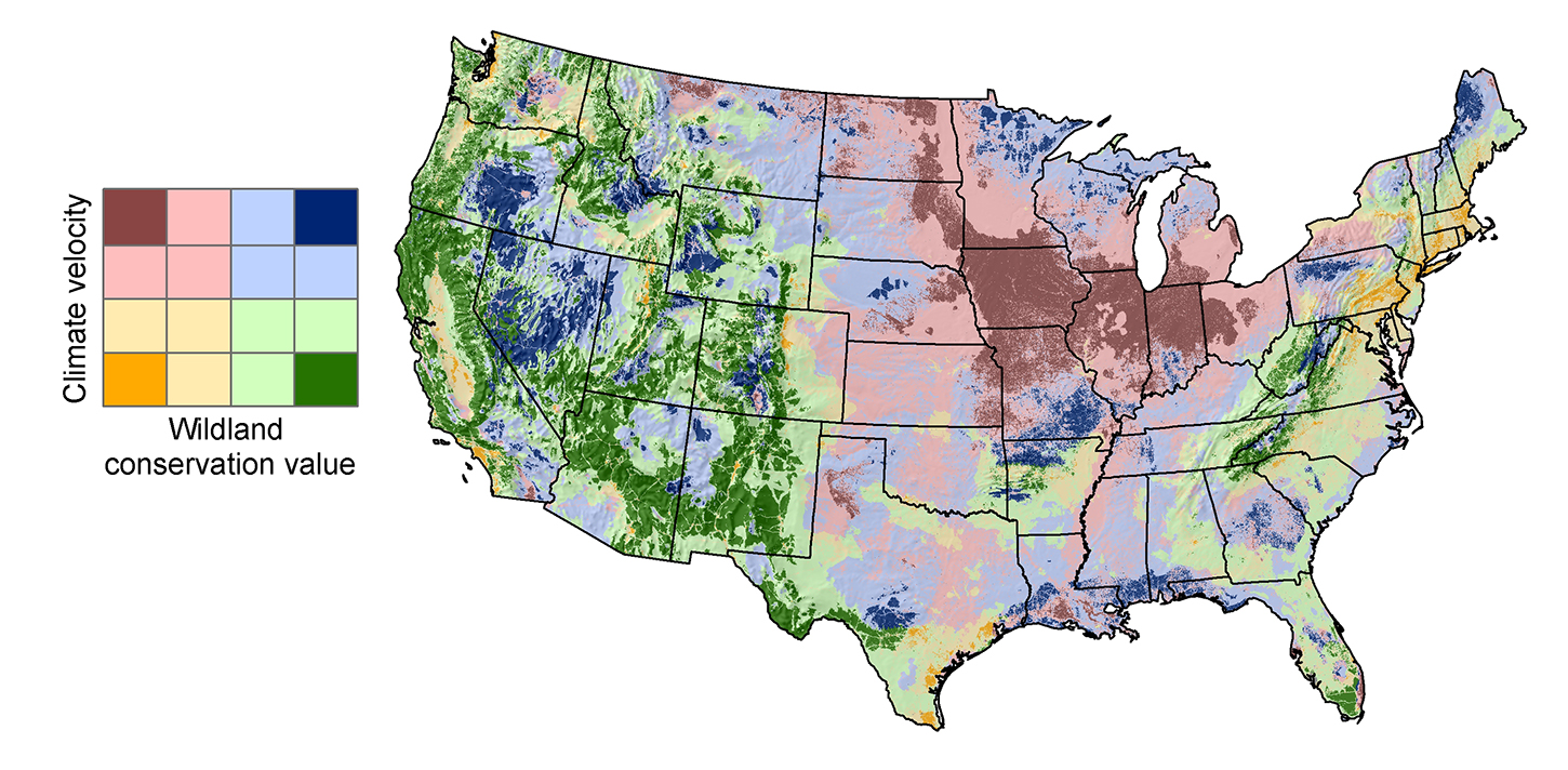 Wildland Value And Climate Vulnerability Map And Assessment Grid - Us climate map