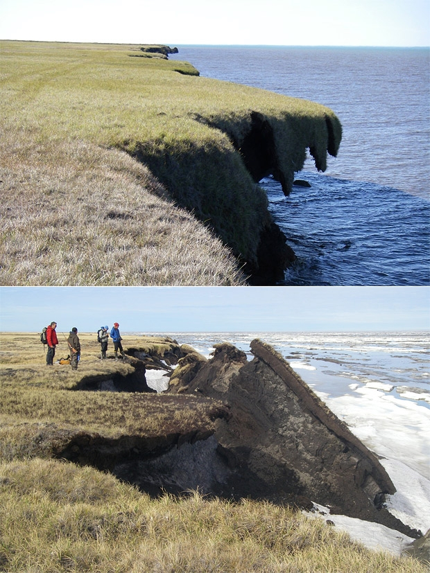 Coastal erosion us climate resilience toolkit coastal erosion at drew point alaska thecheapjerseys Image collections