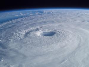 Hurricane Isabel as seen from the ISS on September 15, 2003