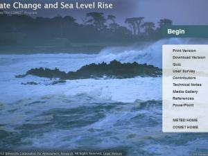 Promo image for the course Climate Change and Sea Level Rise