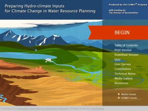Promo image for the course Preparing Hydro-Climate Inputs for Climate Change in Water Resource Planning