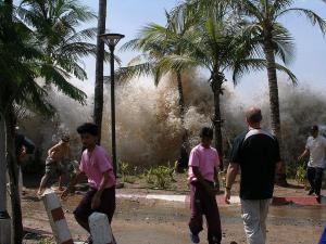2004 Tsunami in Ap Nang, Krabi province in Thailand