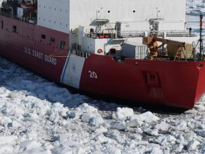 Coast Guard cutter Healy in sea ice