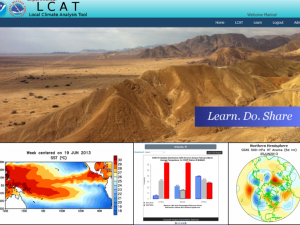 Screenshot of the LCAT: Climate Variability Data course landing page