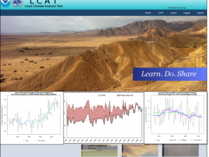 Screenshot of the LCAT: Methods for Climate Change Impacts, Part 1 course landing page