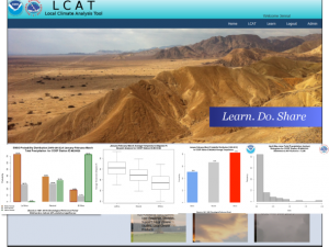 Screenshot of the LCAT: Methods for Climate Variability Impacts, Part 1 course landing page