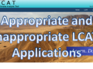 Screenshot of the LCAT: Appropriate and Inappropriate Applications course landing page