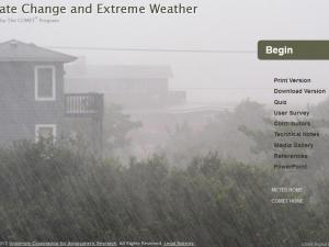 Promo image for the course Climate Change and Extreme Weather