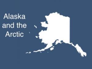 Map showing outline of Alaska