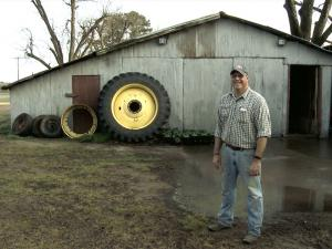 Myron Johnson on his farm in Alabama