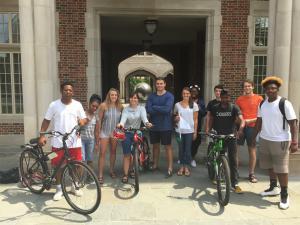 Teens on bikes