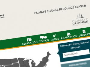 Screen capture of the Climate Change Resource Center home page