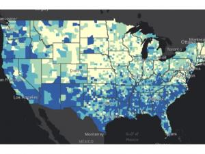 Screen capture from CDC Social Vulnerability Index