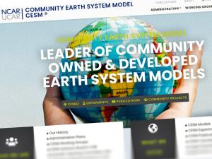 Screen capture from the CESM website