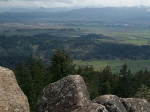 The view south from Spencer Butte in Lane County, Oregon.