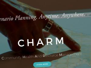Screen capture from the CHARM home page