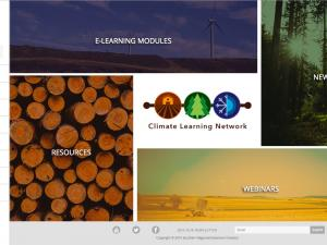 Screen capture of the Climate Learning Network website