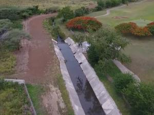 Landscape photo of an aqueduct canal near Salinas, Puerto Rico