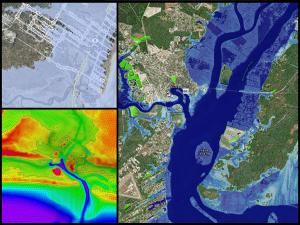 Promo image for the course Coastal Inundation Mapping
