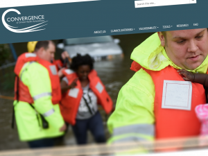 Screen capture of the Convergence website
