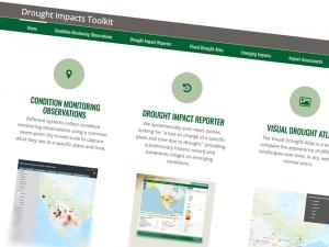 Screen capture from the Drought Impacts Toolkit