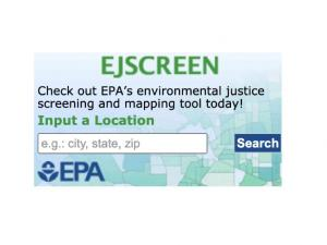 Screen capture from EJScreen