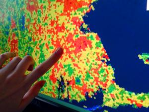 A view of a hot-cold map generated from the North Atlantic LCC Conservation Planning Atlas