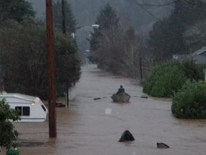 Flooding in Lane County, Oregon.