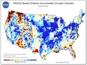 Screenshot of groundwater drought indicator