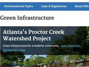 Screen capture from Green Infrastructure site