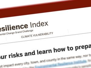 Screen capture from the Hoosier Resilience Index