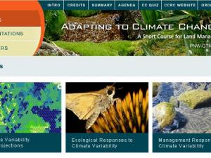 Screenshot of the Adapting to Climate Change home page