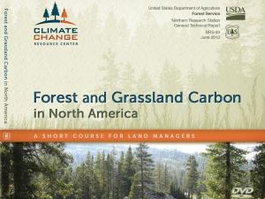 Screenshot of the Forest and Grassland Carbon in North America home page