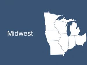 Map of Midwest States