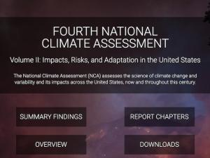 Web page for Fourth National Climate Assessment