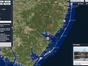 Screen capture from the NJ Flood Mapper