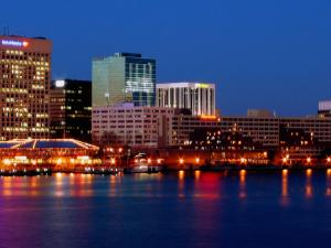 Skyline of Norfolk, VA