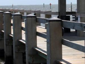 Gulfport, MS, August 20, 2010. The new pier was completed with construction funds provided by FEMA to help rebuild the Gulf Coast after Hurricane Katrina.
