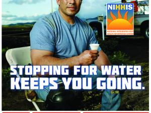 Promotional poster from the OSHA Heat Illness Prevention Campaign