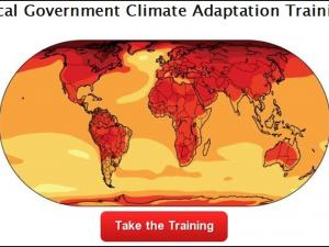 Screenshot of the Local Government Climate Adaptation Training home page