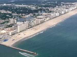 Aerial view of the City of Virginia Beach oceanfront