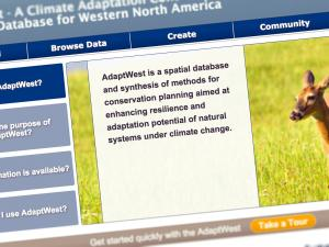 Screen capture from the AdaptWest website