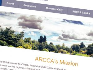 Screen capture from the ARCCA Website