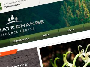 Image of the Climate Change Resource Center's home page
