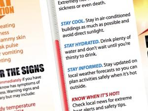 Screen capture from the Extreme Heat and Your Health Media Toolkit