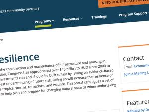Screen capture from the Community Resilience Portal