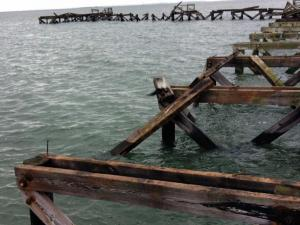 Destruction to the Norwalk Calf Pasture Pier caused by Hurricane Sandy