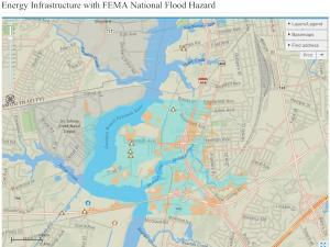 screenshot of energy and flooding vulnerability map