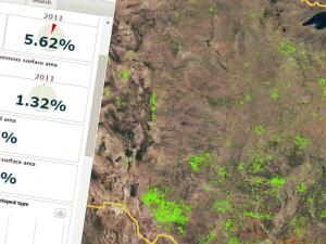 Screen capture from the National Land Cover Database Evaluation, Visualization, and Analysis Tool